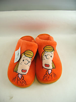 Peppermint Patty bright orange slippers