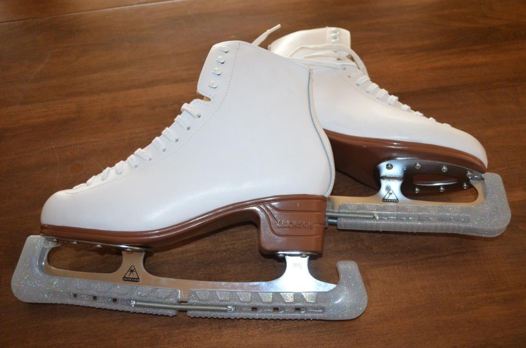 Jackson Ultima Mystique White Ladies Womens Ice Skates Size 10 10C 1490
