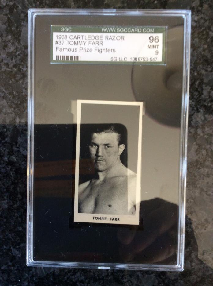 SPECTACULAR !!! MINT GRADE SCG 9 Cartledge TOMMY FARR !!!!