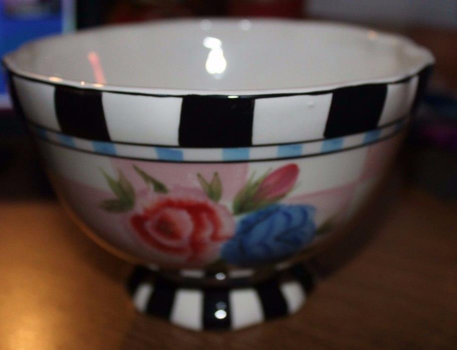 Roscher & Co. Fleurettes Collection Ceramic Bowl EUC vintage 80's look AWESOME!