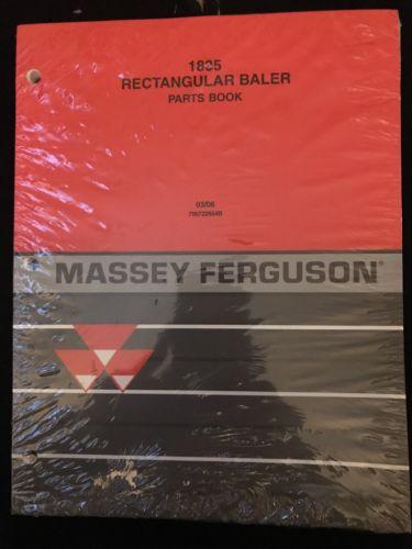OEM MASSEY FERGUSON 1835 Rectangular Baler Parts Book Repair Manual