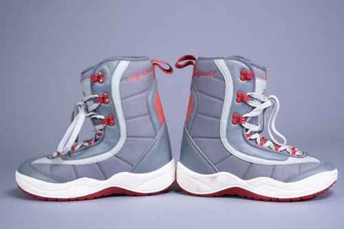 LIQUID SNOWBOARD BOOTS US MENS SIZE 8 GRAY/RED ~ LOOK!!