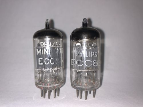 Matched Pair ECC83 12AX7 Philips Miniwatt NOS Blackburn factory 1961 made