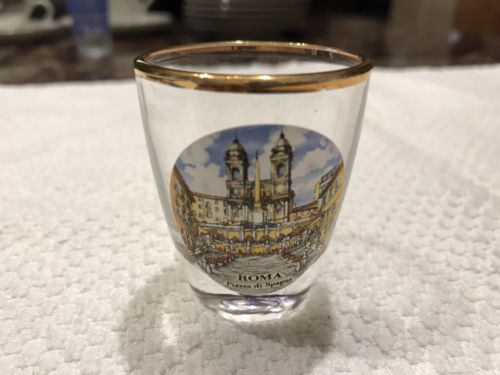 Shooter Glass From Roma Piazza Di Spagna