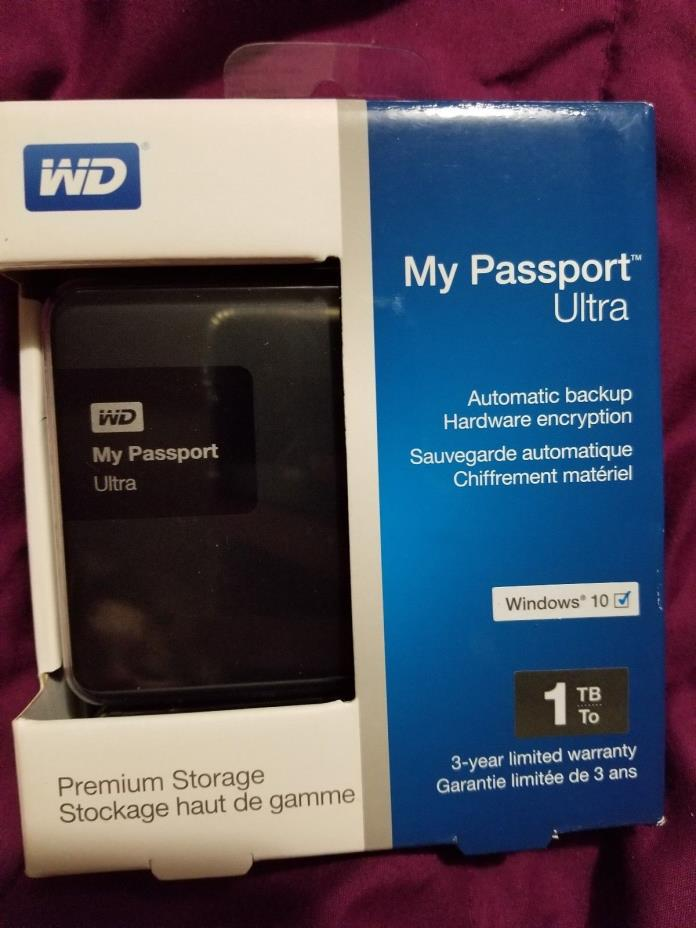 WD My Passport Ultra 1TB External Hard Drive New in box
