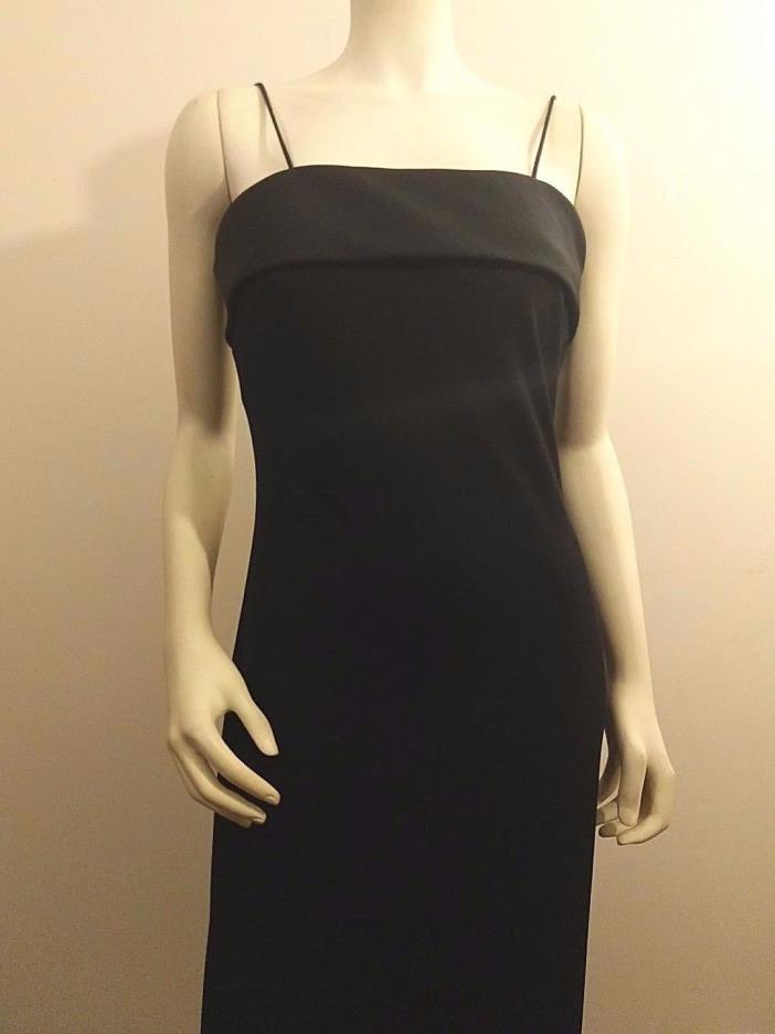 Alex Evening Black Formal Dress Women's Size 4 Maxi Long Spaghetti Straps