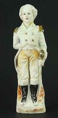 ! Antique 1800's Bisque Fine Porcelain Hand Painted GEORGE WASHINGTON Figure