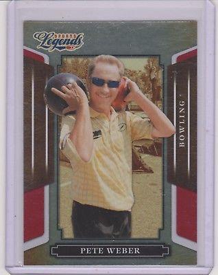 RARE 2008 DONRUSS LEGENDS PETE WEBER CARD #99 ~ RED PARALLEL /250 ~ PBA BOWLING