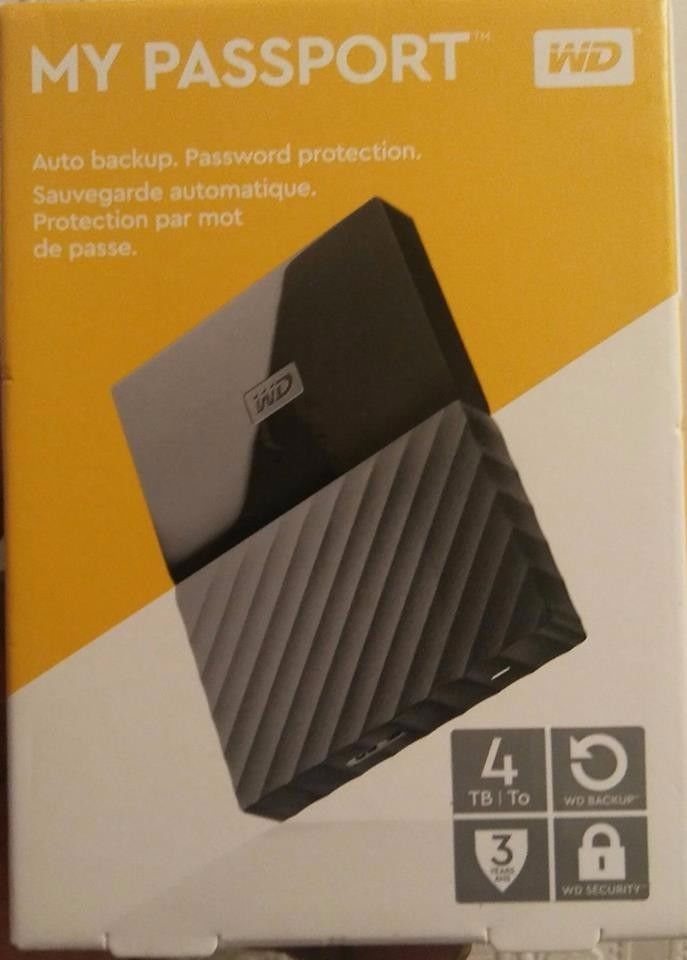 My Passport 4TB Auto Backup. Western Digital External Hard Drive
