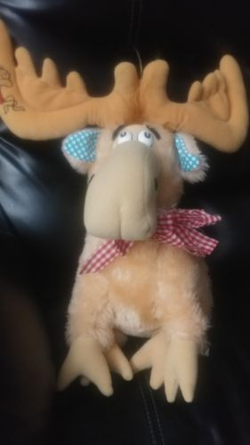 VINTAGE 1983 DR SEUSS THIDWICK THE BIG HEARTED MOOSE PLUSH COLECO 16