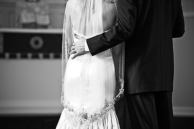 CUSTOM DESIGNER SALE: GORGEOUS Badgley Mischka Wedding Veil Swarovski Edge