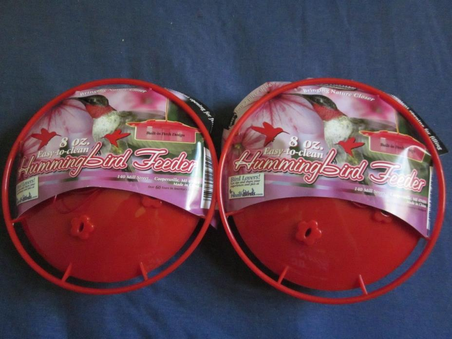 2 New Heath 8 Oz. Hummingbird Feeder with Tags