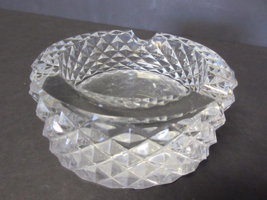 CHIPPED Vintage WATERFORD Crystal Glass Ash Tray 4