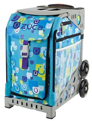 Zuca Sport Insert Bag Be Zappy & Brown Frame with Flashing Wheels