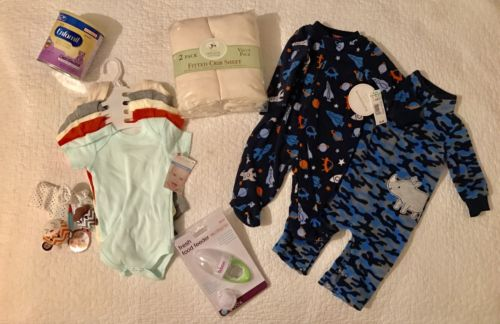 Baby Boy Infant Lot Sale (0-3 Months) NWT $60+ Value (Includes 12 Items!)