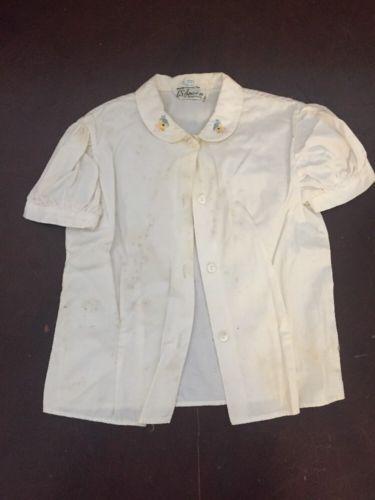 Vintage LS Ayres+co. Kids Button Shirt XL Ducks
