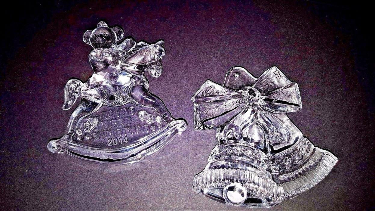 Waterford Marquis 2014 Christmas Ornaments Baby's 1st & Our 1stTogether