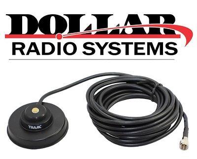 Black Magnet Base NMO UHF VHF Antenna Base MUHF CM300D XPR4350 Motorola Mobiles