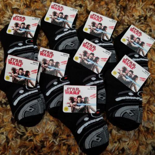 Disney Star Wars Toddler Socks - Shoe Size 7-10- Lot of 9 pairs