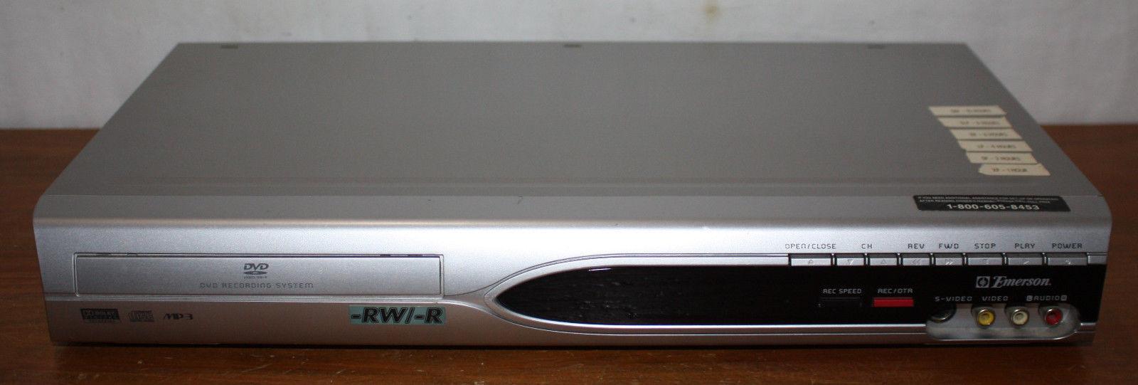 BROKEN - Emerson DVD Recorder & Player EWR10D5, DVD-RW DVD-R