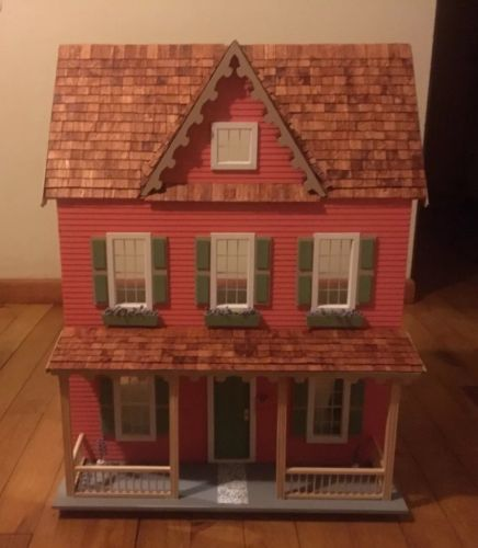 NO SHIPPING-  Handmade Farmhouse Doll house  1:12- Never played with!!!