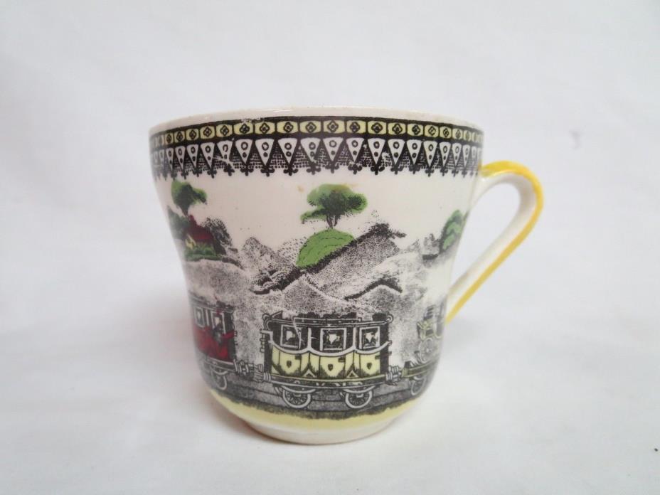 1 RAILWAY PORTLAND POTTERY Tea Cup ~ PV ENGLAND