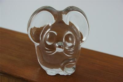 Imperial Lenox Hand Crafted Mod Mouse Glass Paperweight~Little Pals Collection