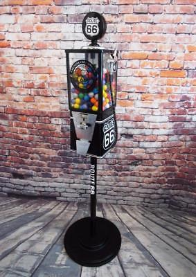 ROUTE 66 vintage gumball machine candy/ nuts  bar novelty Americana memorabilia