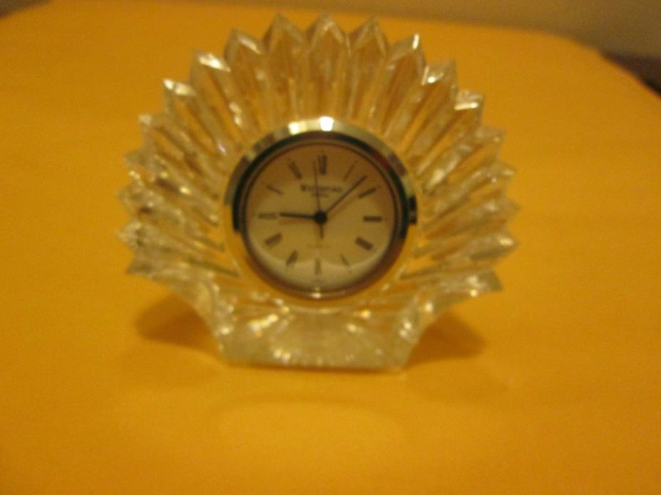 Waterford Small Shell Clock New No Box