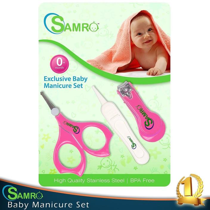 Best Baby Nail Clippers Set with Scissors and Nasal Tweezer in the USA Simple Er