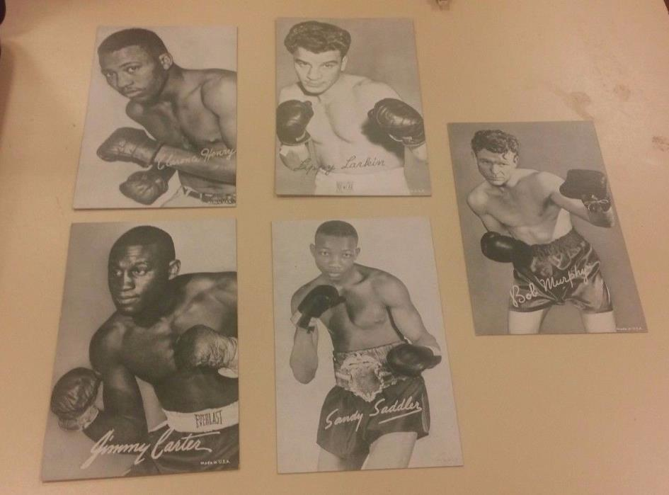 1948-1966 BOXING EXHIBITS - 10 CARD LOT