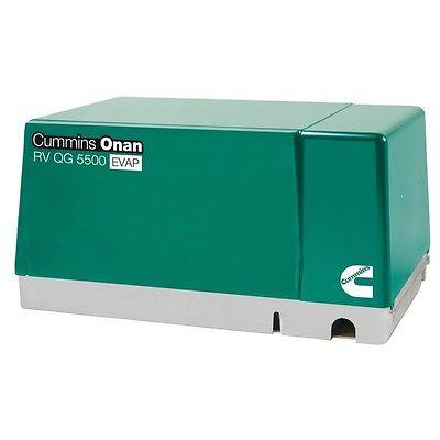 Brand New  Cummins Onan 5.5 HGJ-AB/6755 RV QG 5500 EVAP Gasoline Generator Set