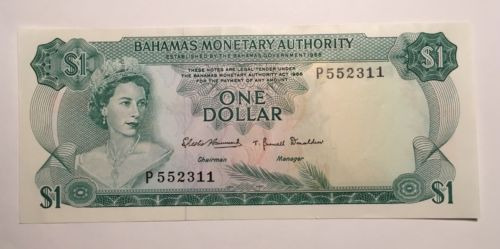 1968 Bahamas 1 Dollar - LOW RESERVE!