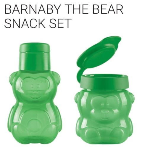 New Tupperware Barnaby The Bear Snack Set (Please Read Details)