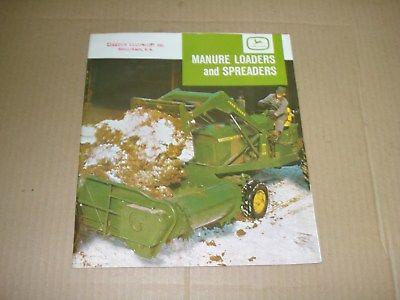 1964 John Deere Manure Loaders and Spreaders Sales Brochure