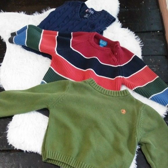 Chaps, Children's Place, Duck Head sweater bundle