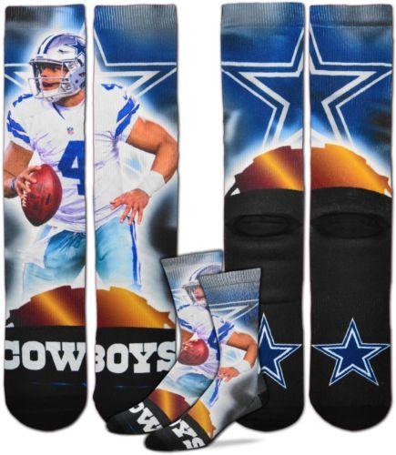 For Bare Feet Dallas Cowboys Rayne Dakota Prescott Player Crew Socks