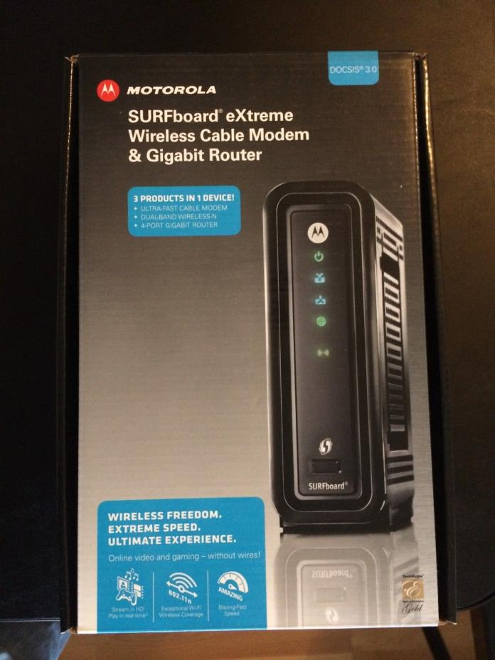 Motorola SURFboard eXtreme Wireless Cable Modem & Gigabit Router SBG6580