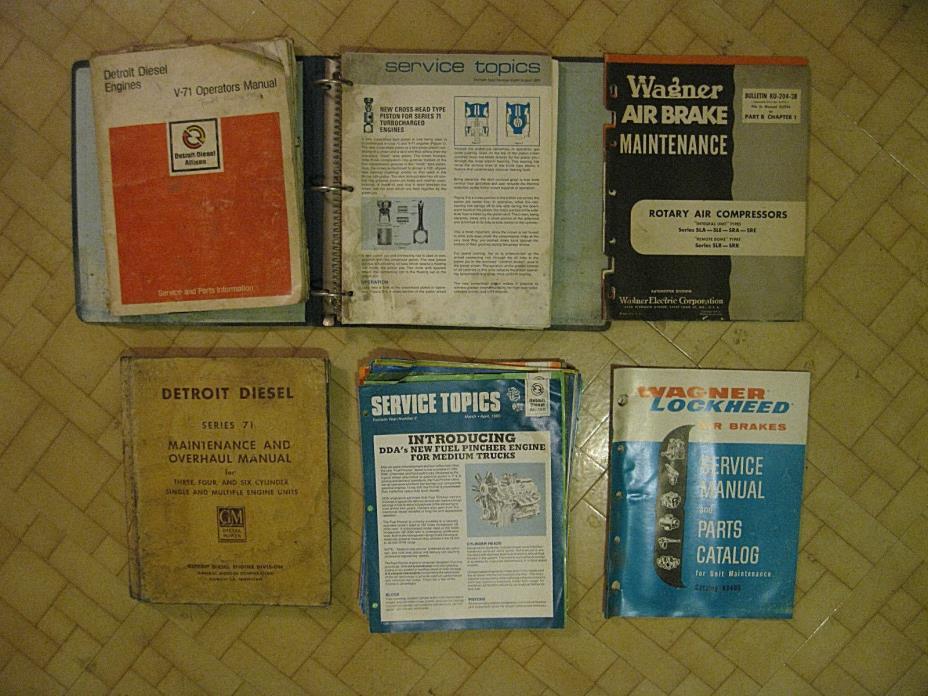 Vintage Detroit Diesel Service & Operators Manuals