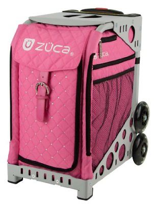 ZUCA Bag Pink Hot Insert & Gray Frame w/ Flashing Wheels