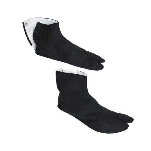 Tabi Japanese Tradition Split Toes Zori Kimono Sandal Socks Black