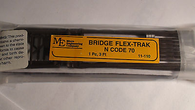 Micro- Engineering #11-110 BRIDGE FLEX-TRAK N-SCALE CODE 70 BIGDISCOUNTTRAINS