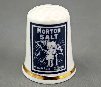 MORTON SALT Thimble – Fine English Bone China