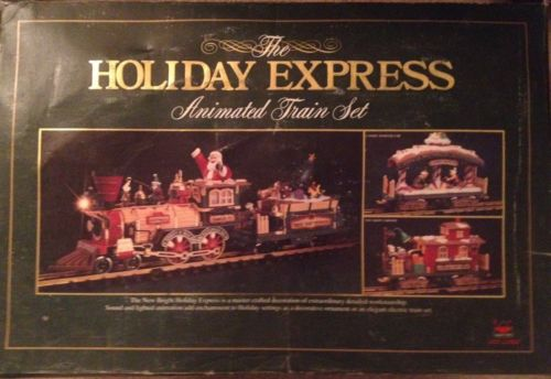 NEW BRIGHT Holiday Express Animated Train Set Model 380 ~ Complete
