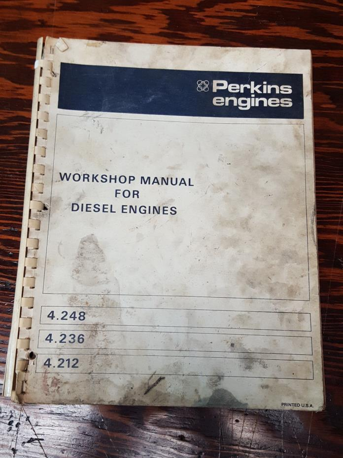 Perkins Diesel Engines Workshop Manual  4.248 4.236 4.212