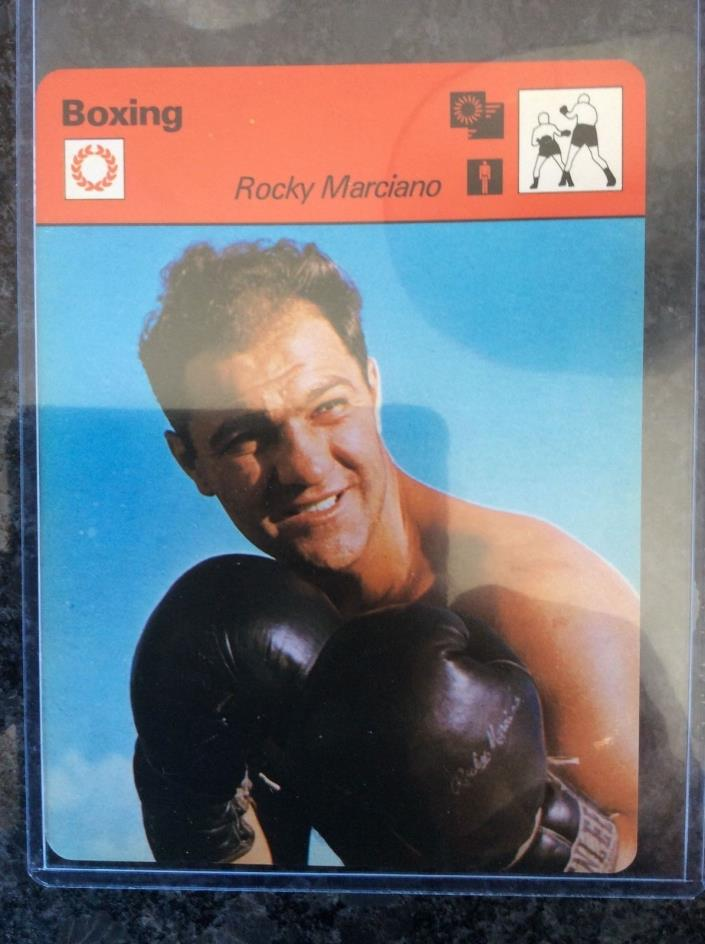 BEAUTIFUL !! 1977 ROCKY MARCIANO Large Card NM-MT