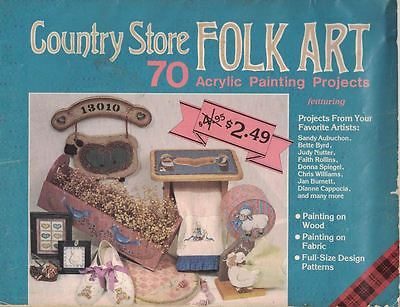 Plaid Country Store FOLK ART Acrylic Painting 70 Projects on Wood & Fabric