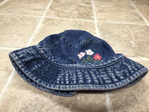 Baby Gap Factory Store Flower Jean Hat 12-24 Months L/XL