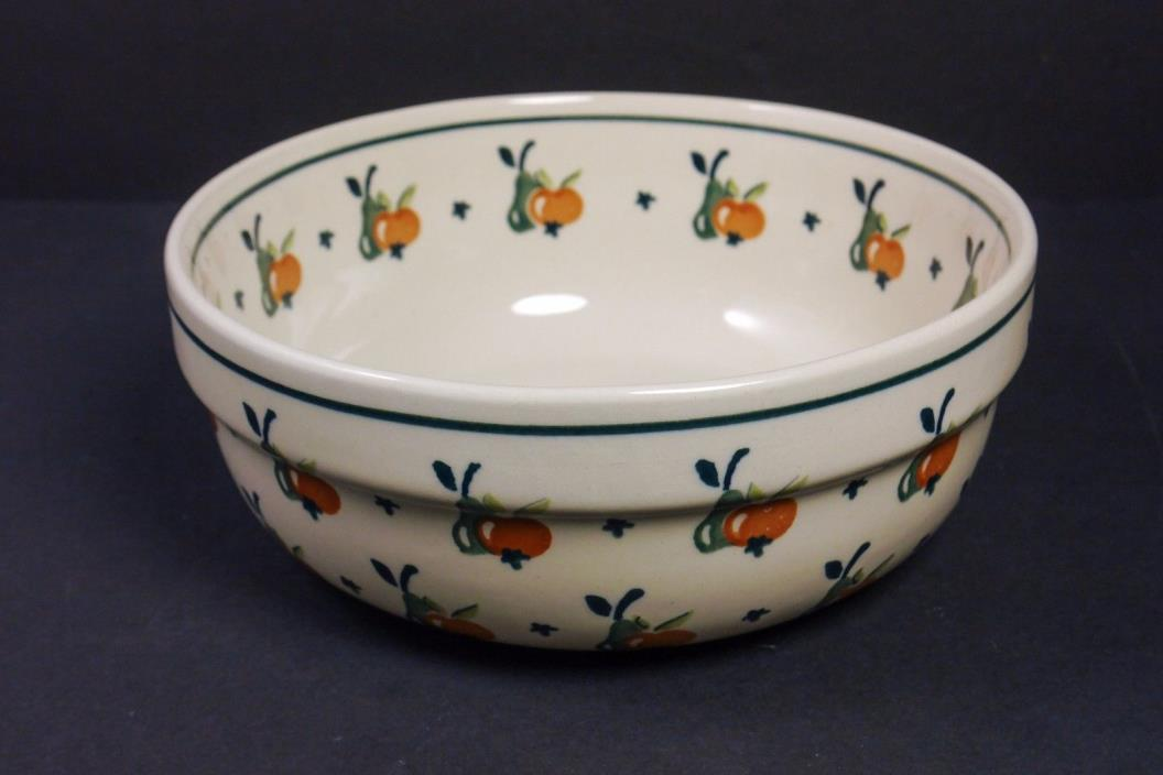 Boleslawiec Hand Made in Poland Pears and Apples Bowl Serving Dish