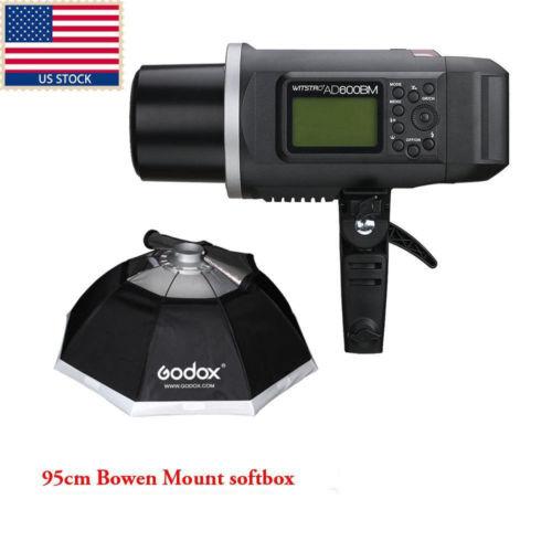 US Godox AD600BM 600W GN87 Studio Flash Strobe Bowens Mount+95CM Softbox F Nikon